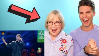 VOCAL COACH and his Grandmom React to DIMASH - Opera 2 (Her first reaction)