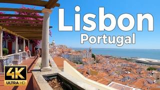 Lisbon, Portugal Walking Tour (4k Ultra HD 60fps)