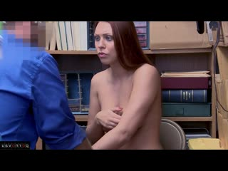 Morgan Rodriguez aka Ornella Morgan [ Redhead &  In the office &  With talk / Hidden camera, Robber, Cumshot in mouth, With t