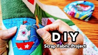 DIY SCRAP Fabrics projectChristmas GiftSewing Decoration Ideas #HandyMum