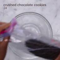 crushed chocolate cookies