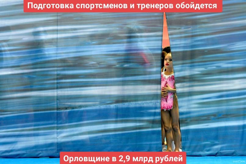 Подготовка спортсменов и тренеров обойдется Орловщине в 2,9 млрд рублей