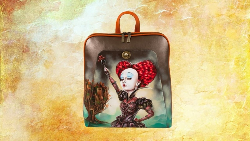 Плоский рюкзак Красная Королева Pelle Volare