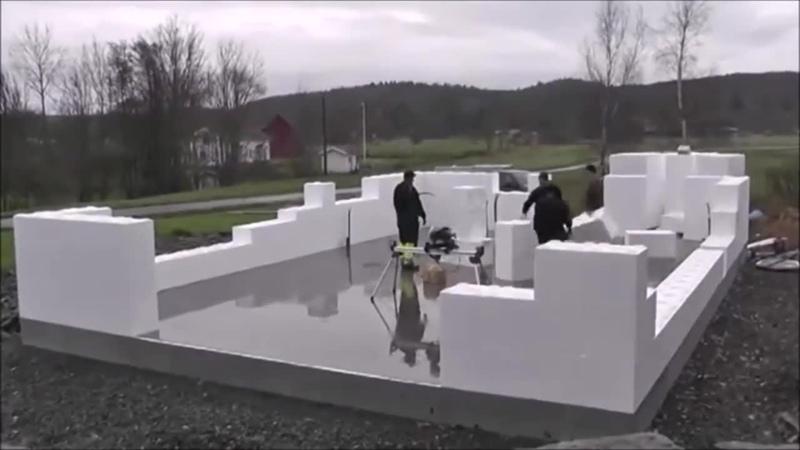 Технология строительства дома из несъемной опалубки #1