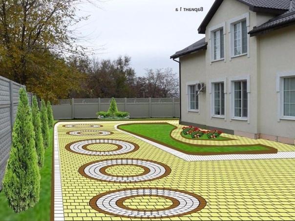 Идеи для тех, кто задумал укладывать тротуарную плитку...