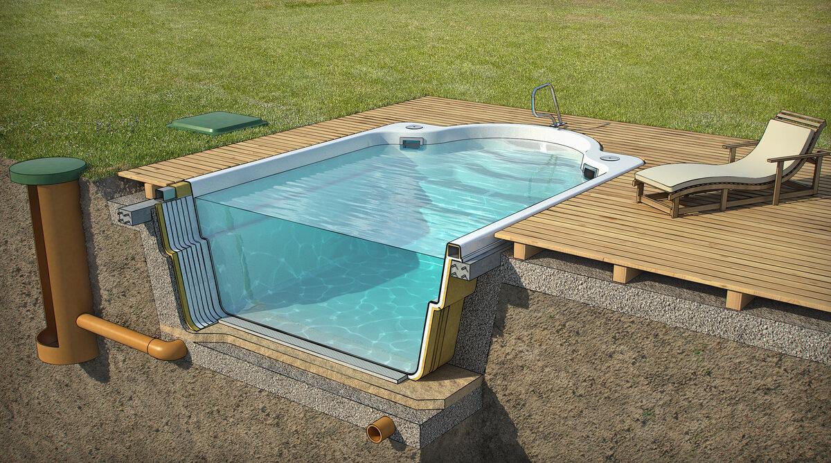 А Вы пробовали, сделать бассейн на дачном участке своими руками?