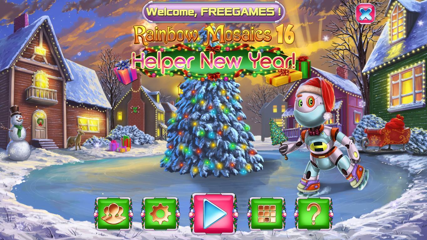 Радужная мозаика 16: Помощник и Новый год | Rainbow Mosaics 16: Helper New Year (En)