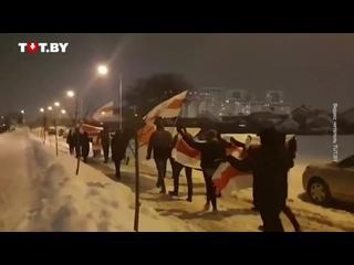 Акция солидарности жителей Лебяжьего вечером 11 февраля