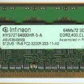 ОЗУ ECC dimm 512Mb DDR2 infineon