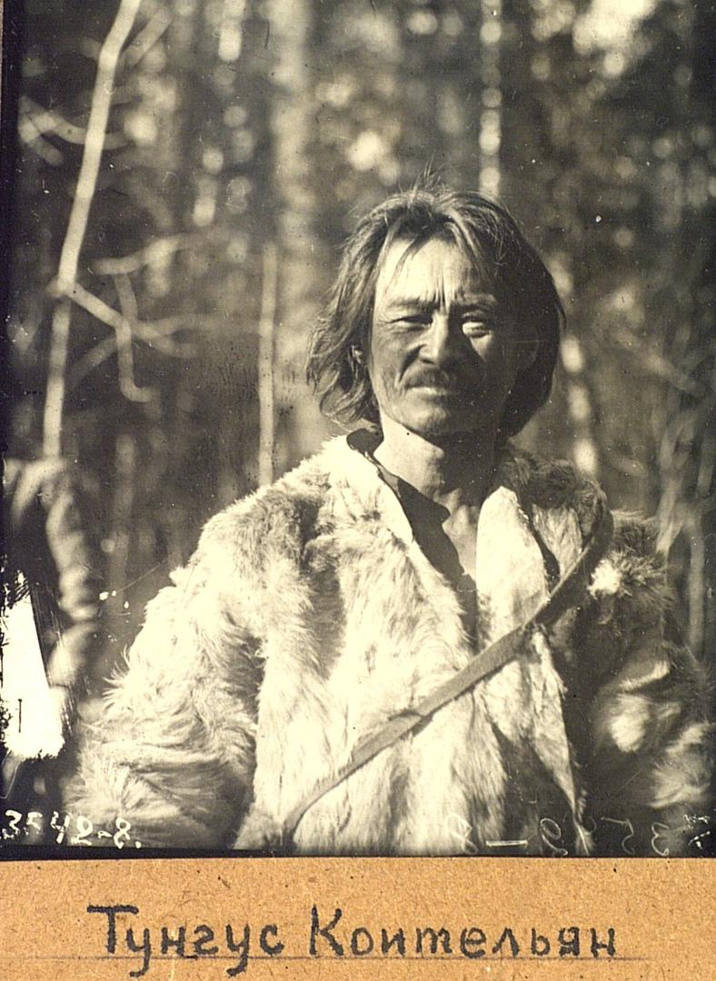 Портрет охотника Коительяна. Эвенки (тунгусы). Омская область, Тарский район. 1926. № 3542-8.