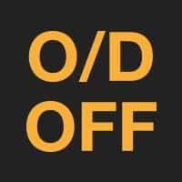 Значок O/D off на прибоной панели. Информирует о том, что режим овердрайв выключен.