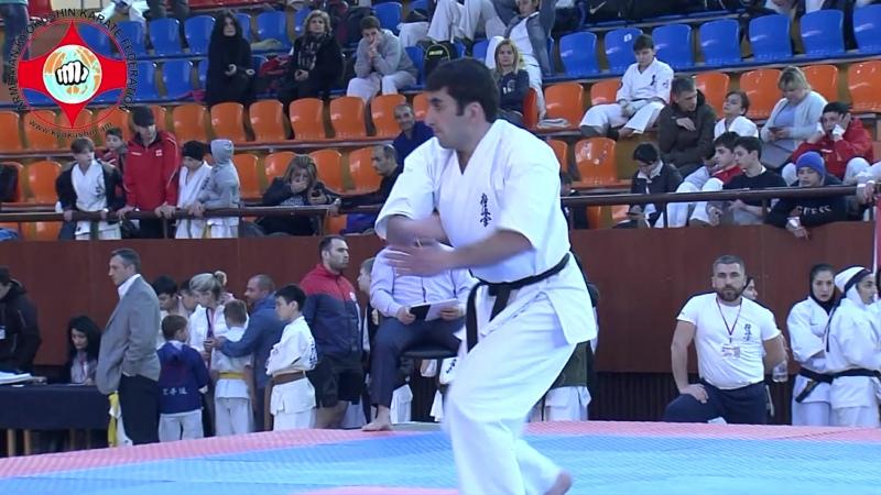 Seienchin kata in Kyokushin karate, participant Artsrun Misakyan, Yerevan 2019