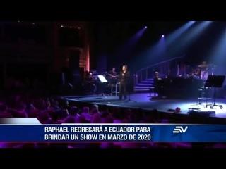 Canal tv #Ecuavisa anuncia ya del regreso de Raphael a Ecuador