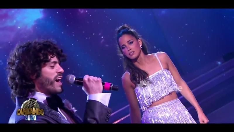 Fede Salles y Cande Molfese cantaron No me ames y el amor surgió en la pista de Cantando 2020