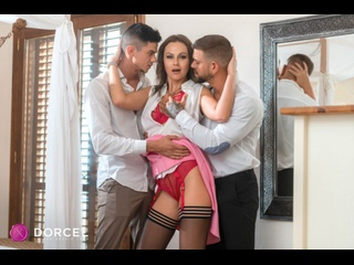 Tina Kay - She Likes Them To Be Two [PornCube, ПОРНО ВК new Porn vk, HD 1080 Russian Stockings
