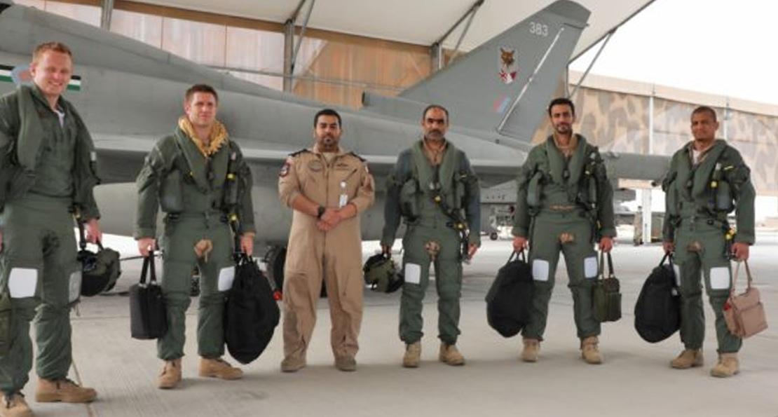 Летчики Катара и Великобритании