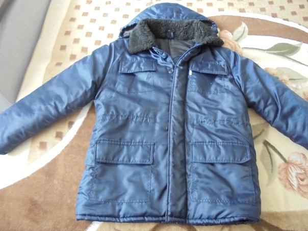 Продаю утеплённую тёмно-синию зимнюю куртку, разме...