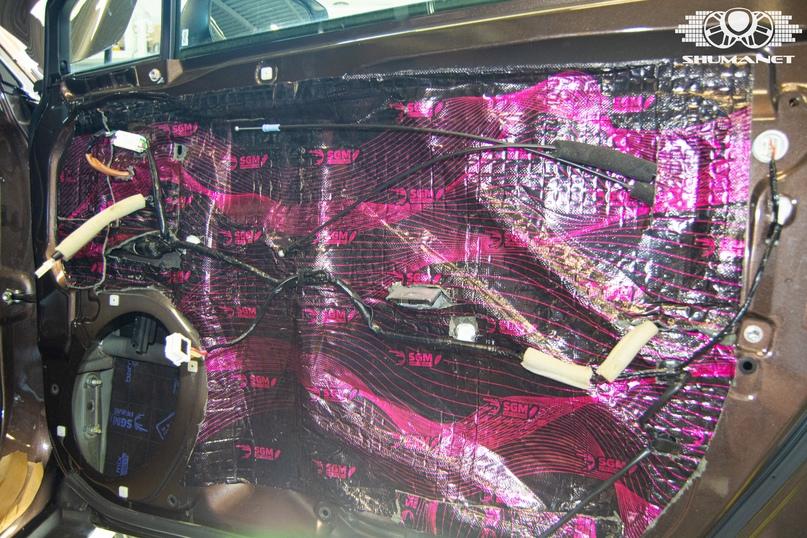 Комплексная шумоизоляция салона Subaru Outback., изображение №15