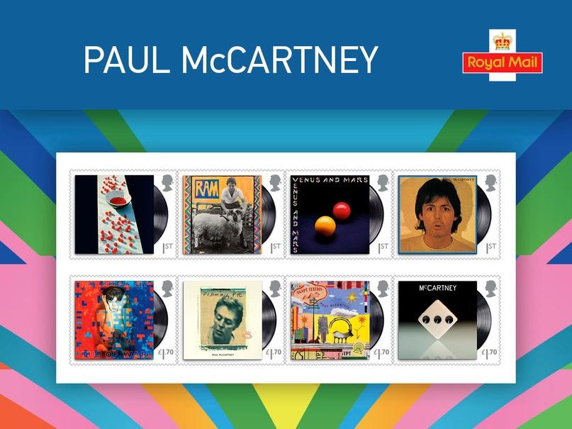 Королевская почта Великобритании выпустит новую серию марок, посвящённую Полу Ма...