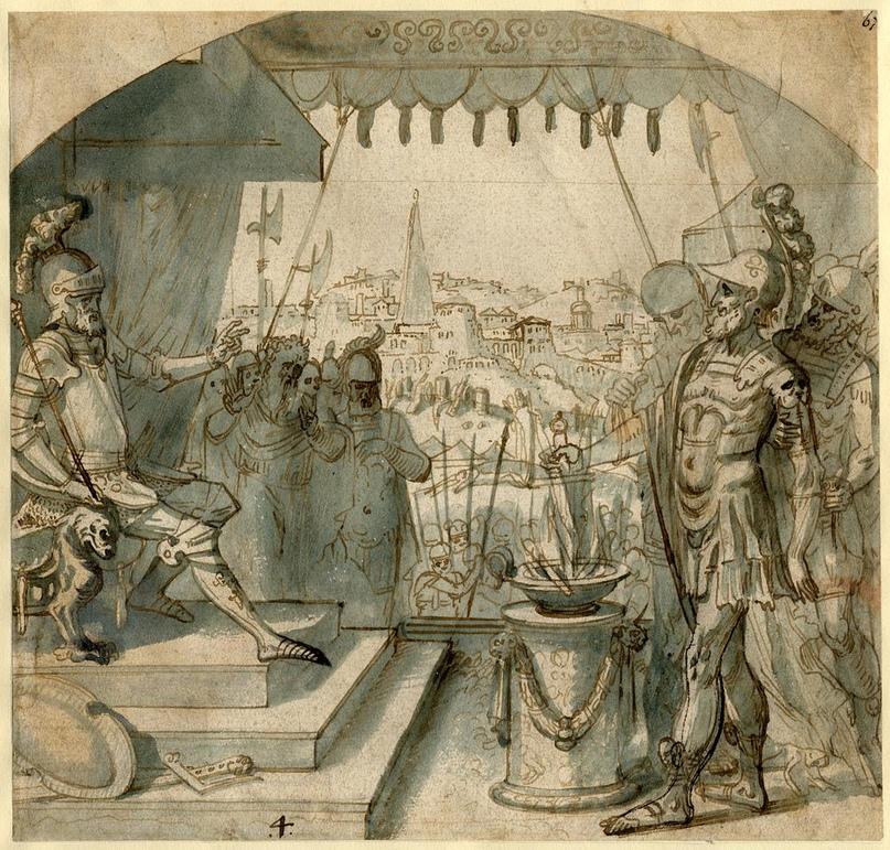 Парсена на троне. рисунок1531-1570гг