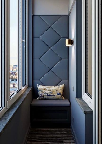 Великолепно исполненный дизайн балкона