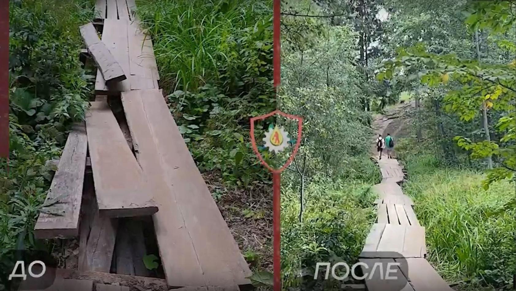В Можге восстановили пешеходный мостик между микрорайонами