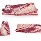 Грудинка на кости, на шкуре ≈ 6-8 кг.