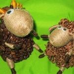 Кофейно-джутовая отара: овечки и барашки своими руками