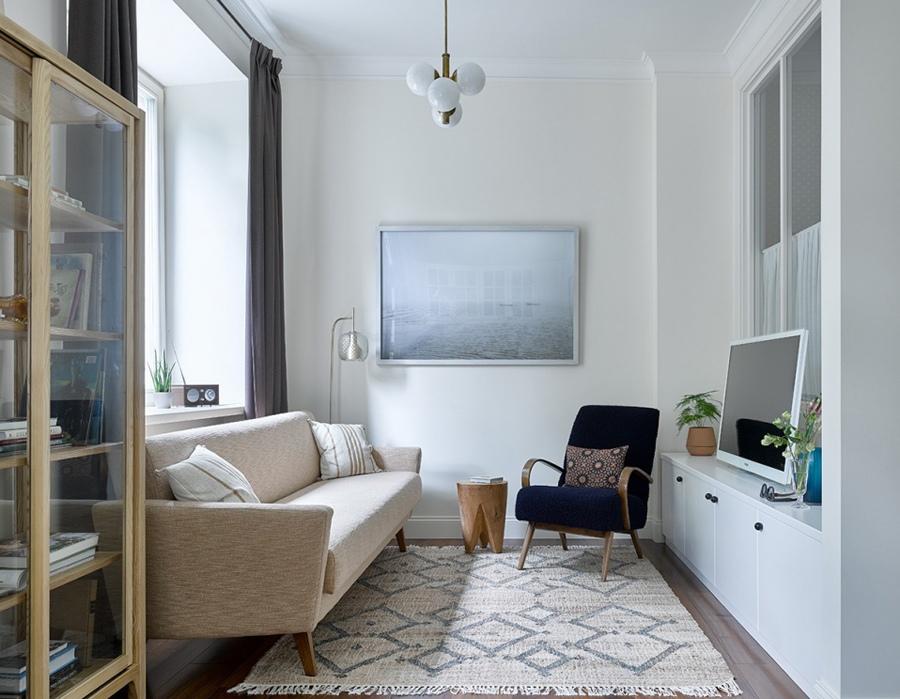 Интерьер квартиры 34 м в Москве.