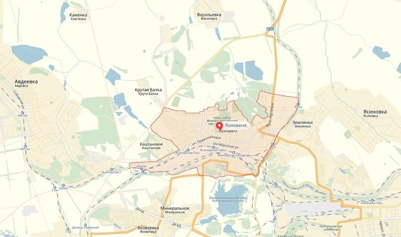 Украинские войска нанесли минометный удар по Ясиноватой и Горловке