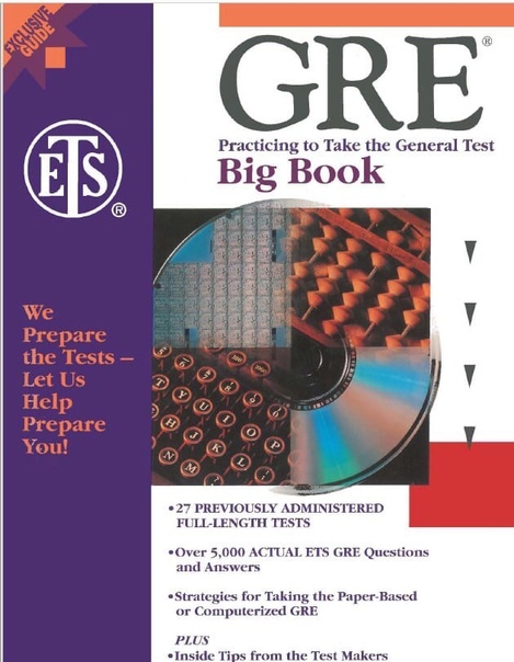 education testing service gre big book practicing to take th
