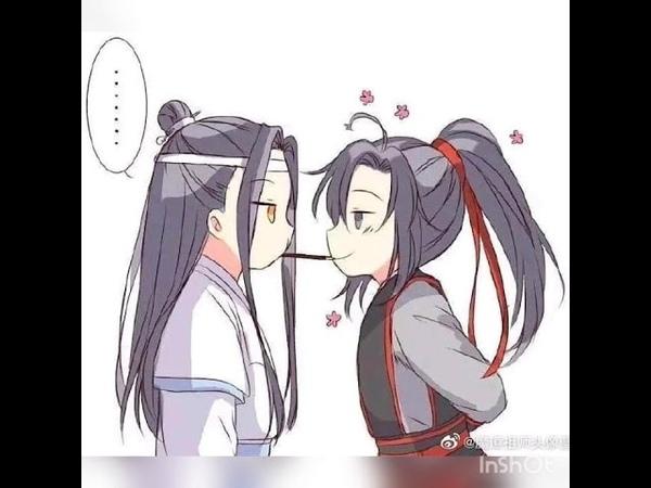 Lan Zhan and Wei Ying cute pocky kiss😍 Mo Dao zu Shi The Untamed