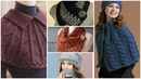Trendy stylish warm knitted caplet shawl neck warmer design for ladies2020/winter fashion
