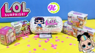 ЕДА ДЛЯ КУКОЛ ЛОЛ! РАСПАКОВКА Сюрпризов LOL Surprise Confetti Under Wraps/ Real Littles/ Doorables