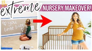 *EXTREME* NURSERY MAKEOVER! CLEAN + DECORATE WITH ME 2020 GENDER NEUTRAL NURSERY TOUR!  K