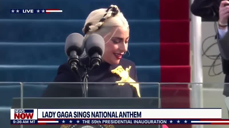 Леди Гага исполняет национальный гимн США на инаугурации Джо Байдена 20 января