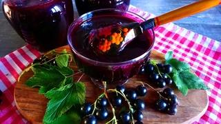Джем Пятиминутка из черной смородины   Густой и вкусный   Blackcurrant jam five minutes   La Marin