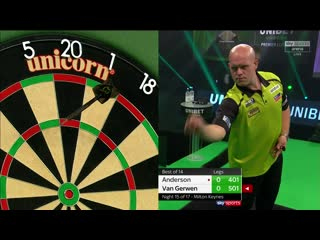 Gary Anderson vs Michael van Gerwen (PDC Premier League Darts 2020 / Week 15)