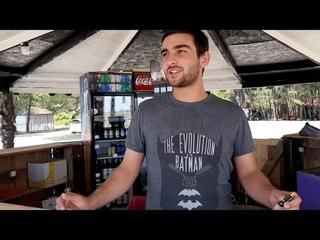 Абхазия. Цитрусовый совхоз Алахадзы. Цены в кафе. Море и пляж