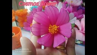 Мастер-класс по цветам из капрона: Космея