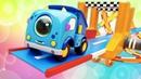Новые мультики про МАШИНКИ для детей. Мокас собирают Гоночный трек