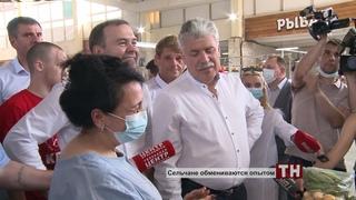 Приехал Павел Грудинин - сельчане обмениваются опытом