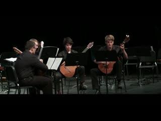 578 j. s. bach - fugue in g minor 'little fugue',  bwv 578 - mccallum guitar quartet