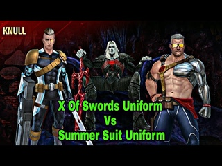 Cable Uniform| X Of Swords VS Summer Days Comparison - Marvel Future Fight