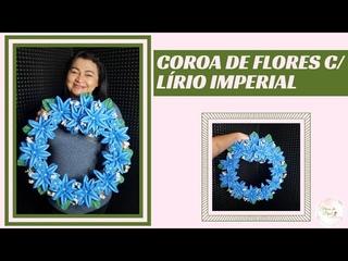 COROA DE FLORES EM  - LÍRIO IMPERIAL