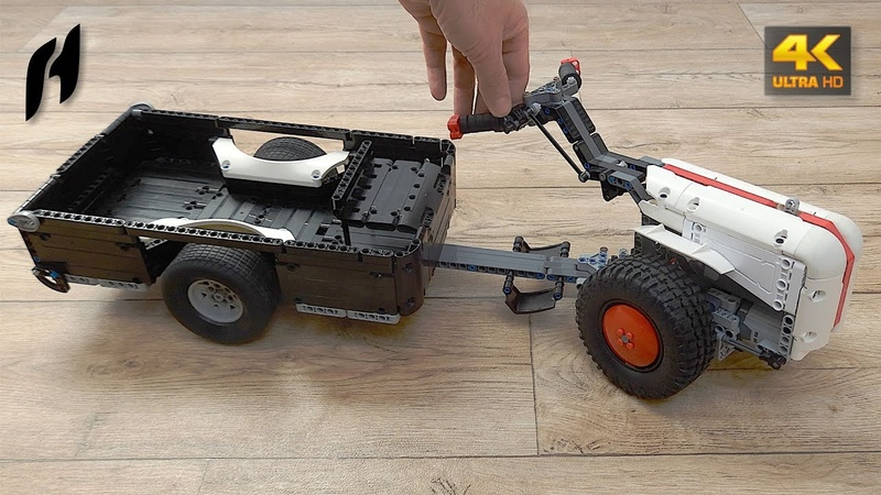 How to Build Lego Technic Walking Tractor with Trailer (MOC - 4K)