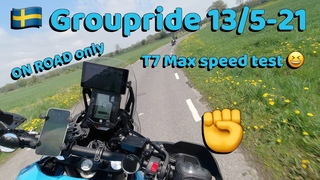 Yamaha Tenere 700 ON ROAD Groupride and a MAX speed test. 🇸🇪