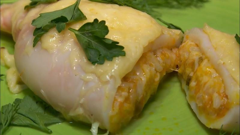 Это вкусно готовим фаршированные кальмары Бийское телевидение