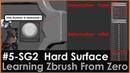 5-SG2 Amazing Hard Surface Brush- Trim Dynamic, DeformationInflate Polish Crisp Edges, Zbrush