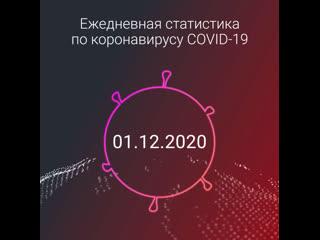 Статистика по коронавирусу: 1 декабря
